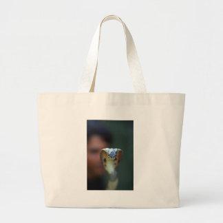 Black cobra large tote bag