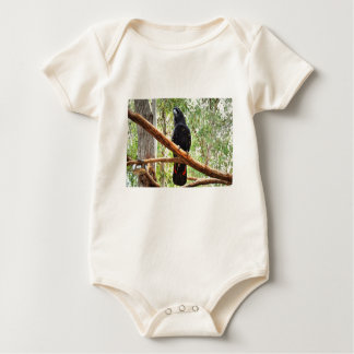 BLACK COCKATOO QUEENSLAND AUSTRALIA BABY BODYSUIT