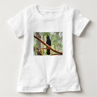 BLACK COCKATOO QUEENSLAND AUSTRALIA BABY ROMPER