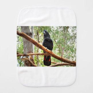 BLACK COCKATOO QUEENSLAND AUSTRALIA BURP CLOTH