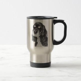 Black Cocker Spaniel Art Travel Mug