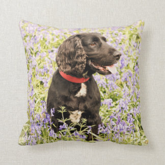 Black cocker spaniel cushion