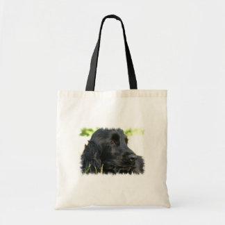 Black Cocker Spaniel Dog Tote Bag