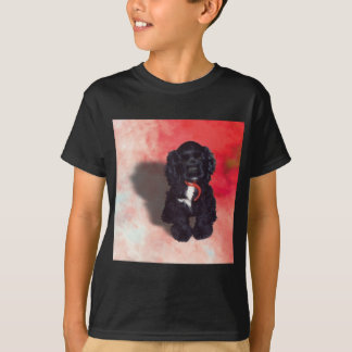 Black Cocker Spaniel Puppy - Abby T-Shirt