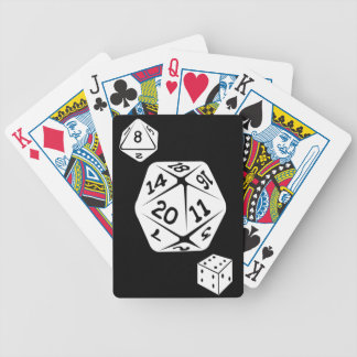 Black Color Monogrammed Name Custom Dice Bicycle Playing Cards