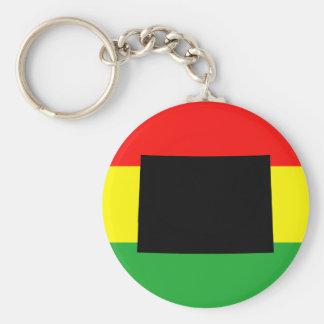 Black Colorado on Rasta Colors Keychain
