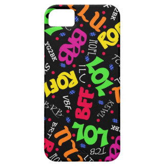 Black Colorful Electronic Texting Art Abbreviation iPhone 5 Cases