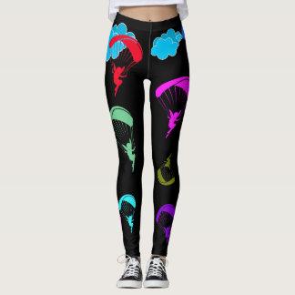 Black Colorful Pixie Leggings