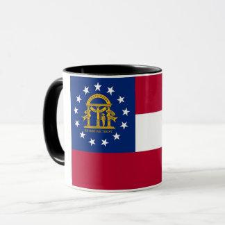 Black Combo Mug with flag of Georgia, USA