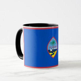 Black Combo Mug with flag of Guam, USA