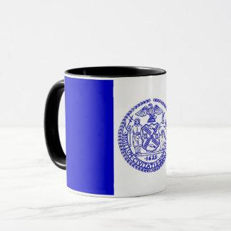 Black Combo Mug with flag of New York City, USA