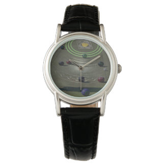 Black Competition Lawn Bowl, Ladies Leather Watch