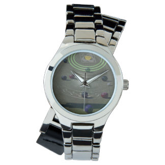 Black Competition Lawn Bowl, Ladies Silver Watch