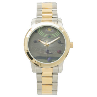 Black Competition Lawn Bowl, Unisex Two Tone Watch