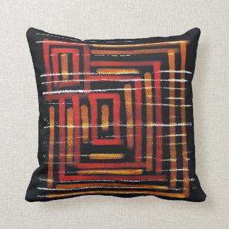 Black Contemporary Abstract Art Throw Pillow