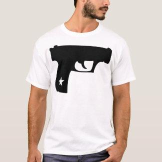 Black Cop Pistol Star Gun T-Shirt