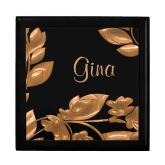 Black & Copper Garden Keepsake Gift Box