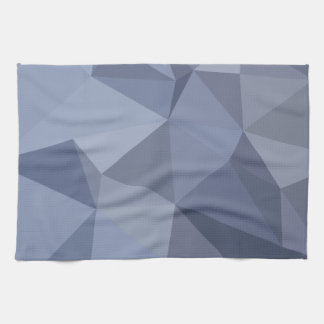 Black Coral Blue Abstract Low Polygon Background Kitchen Towels