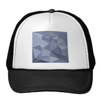 Black Coral Blue Abstract Low Polygon Background Trucker Hat