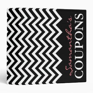 Black coral chevron coupon organizer holder book binder