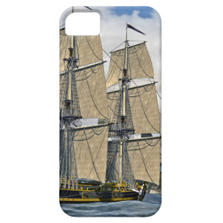Black Corvette Ship Sailing on a windy day iPhone 5 Cover