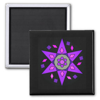 Black Cosmic Pink Purple Geometric Magnet