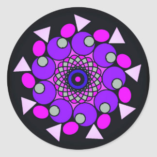 Black Cosmic Pink Purple Stickers