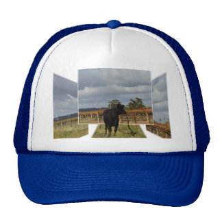 Black Cow Dimensional Art, Unisex Truckers Cap Trucker Hat