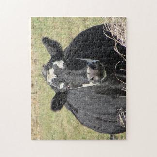 Black Cow Jigsaw Puzzle