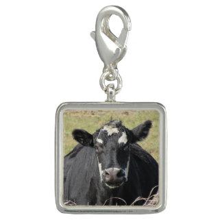 Black Cow Photo Charm