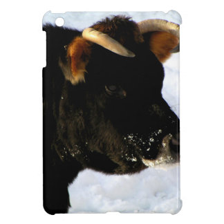 Black Cow with horns iPad Mini Covers