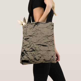 Black cracks on sepia color, brown bag pattern