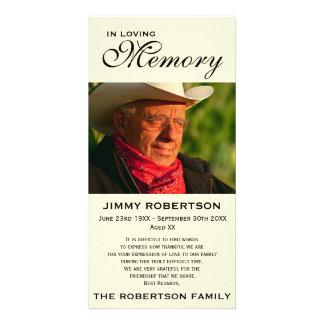 Black & Cream Memorial Family Acknowledgement Picture Card