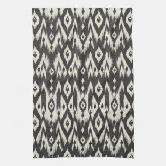 Black & Cream Tribal Ikat Kitchen Towel