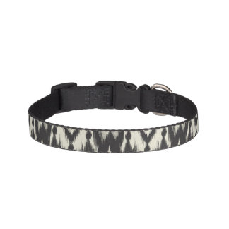 Black & Cream Tribal Ikat Pet Collar