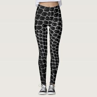 Black Crocodile Print Leggings