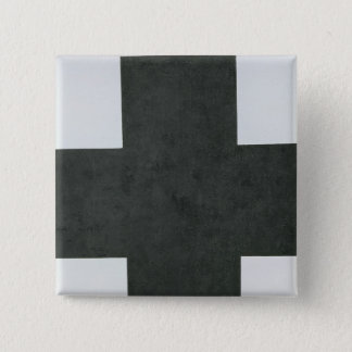 Black Cross, c.1923 2 Inch Square Button