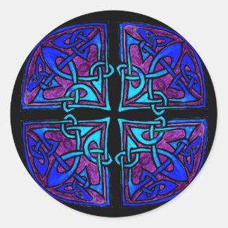 Black Cross Classic Round Sticker