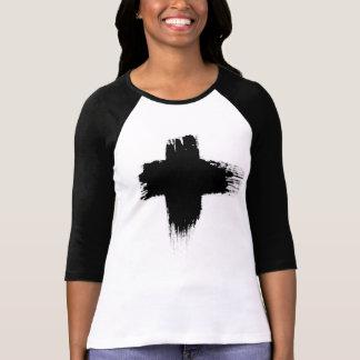 Black Cross-country race Tee-shirt T-Shirt