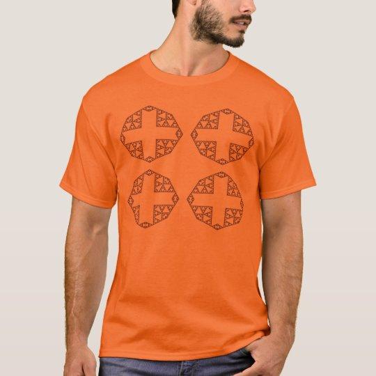 black cross pattern T-Shirt