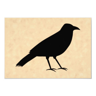Black Crow Bird on a Parchment Pattern. Card