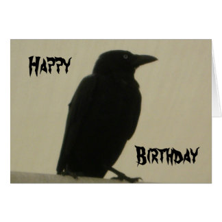 Black Crow Birthday Card
