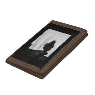 BLACK CROW BROWN PHOTO WALLET. TRI-FOLD WALLETS
