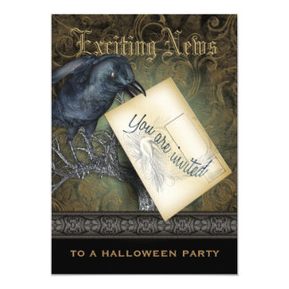 Black Crow Gothic Party Invitation