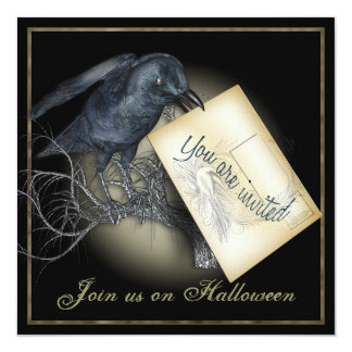 Black Crow Luxury Party Invitation