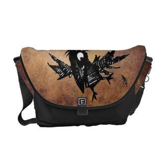 Black Crow Messenger Bags