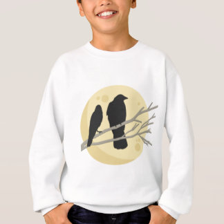 Black Crow on Tree Branch Sweatshirt