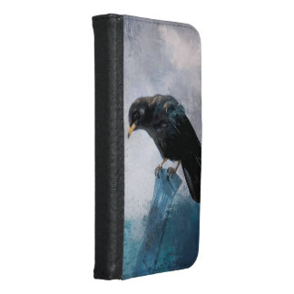 Black Crow Samsung Galaxy S6 Wallet Case