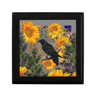 black crow & sunflowers art gift box
