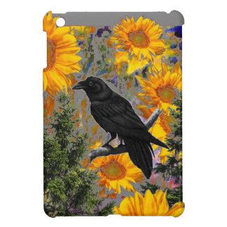black crow & sunflowers art iPad mini covers